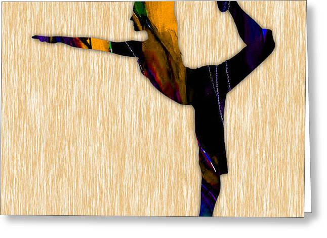 Fitness Yoga Greeting Card by Marvin Blaine