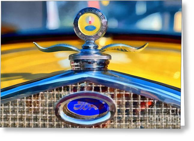 1930 Ford Model A Coupe Greeting Card