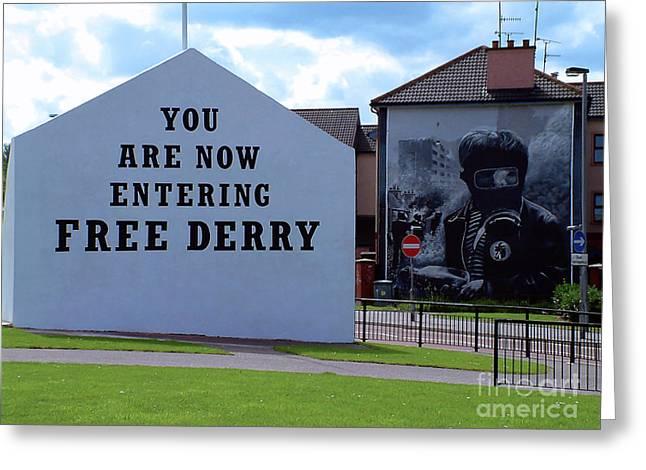Free Derry Corner 3 Greeting Card