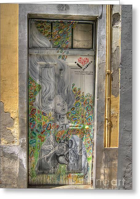 Funchal Door Art  11 Greeting Card