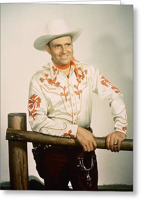 Gene Autry Greeting Card by Silver Screen