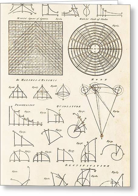 Geometrical Constructions And Principles Greeting Card by David Parker