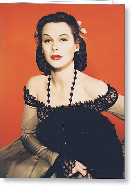 Hedy Lamarr Greeting Card by Silver Screen