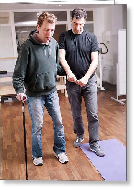 Hemiplegic Stroke Physiotherapy Greeting Card by Thomas Fredberg