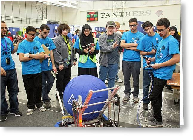 High School Robotics Competition Greeting Card