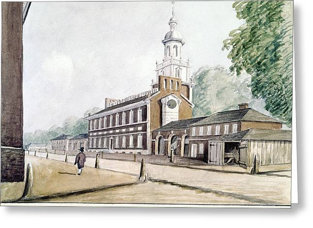 Independence Hall Greeting Card by Granger