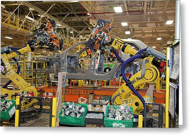 Jeep Grand Cherokee Assembly Line Greeting Card