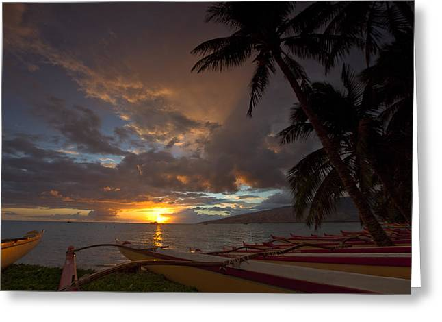 Kihei Canoes Greeting Card by James Roemmling