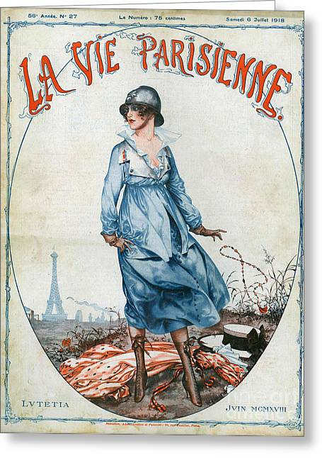 La Vie Parisienne 1918 1910s France Cc Greeting Card