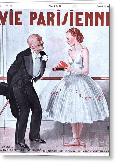 La Vie Parisienne 1935 1930s France Greeting Card by The Advertising Archives