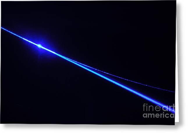 Laser Beam Greeting Card