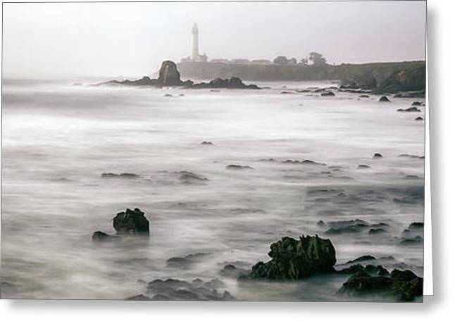 Lighthouse On The Coast, Pigeon Point Greeting Card