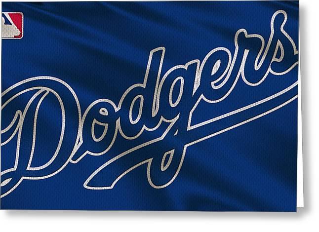 Los Angeles Dodgers Uniform Greeting Card by Joe Hamilton