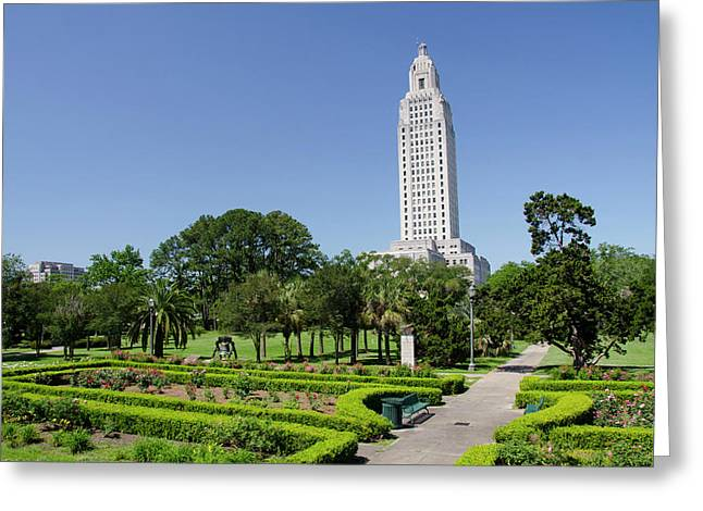 Louisiana, Baton Rouge Greeting Card by Cindy Miller Hopkins