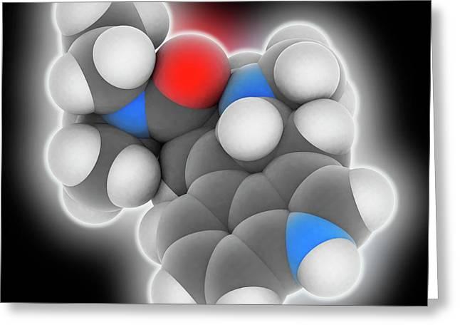 Lsd Drug Molecule Greeting Card