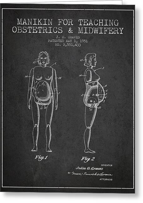 Manikin For Teaching Obstetrics And Midwifery Patent From 1951 - Greeting Card by Aged Pixel