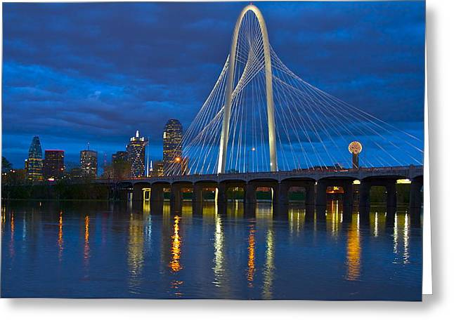 Margaret Hunt Hill Bridge Greeting Card by John Babis