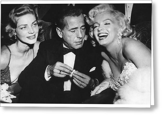 Marilyn Monroe Lauren Bacall Humphrey Bogart How To Marry A Millionaire Premiere November 4 1953 Greeting Card