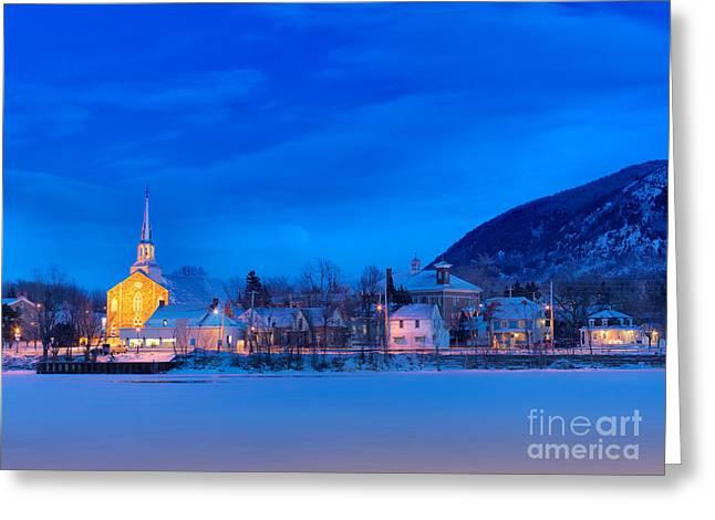 Mont Saint Hilaire Quebec Winter Greeting Card