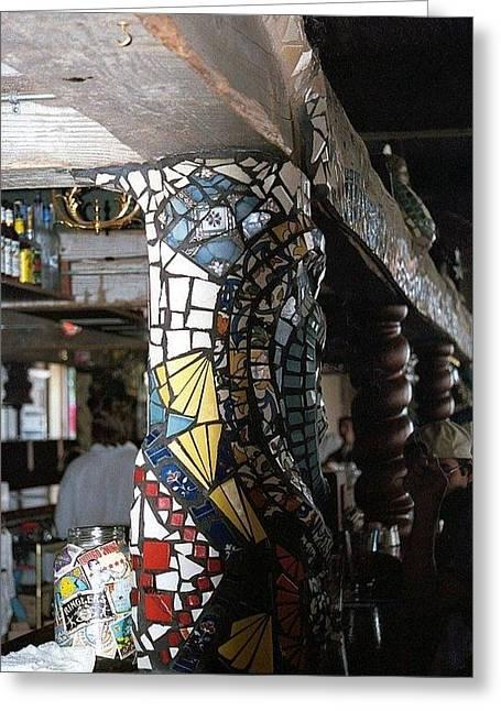 Mosaic Pillar Greeting Card by Charles Lucas