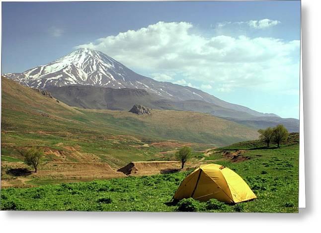 Mount Damavand Greeting Card by Babak Tafreshi
