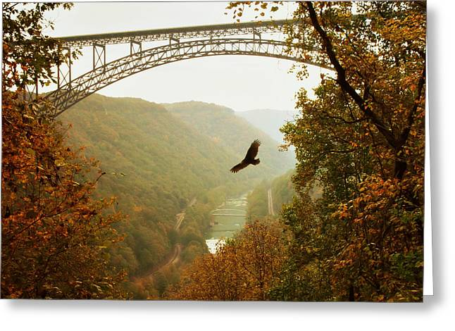 New River Gorge Bridge Greeting Card by Mary Almond