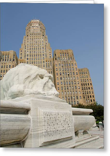 New York, Buffalo, City Hall Greeting Card by Cindy Miller Hopkins