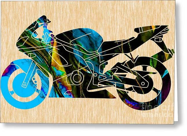 Ninja Motorcycle Greeting Card
