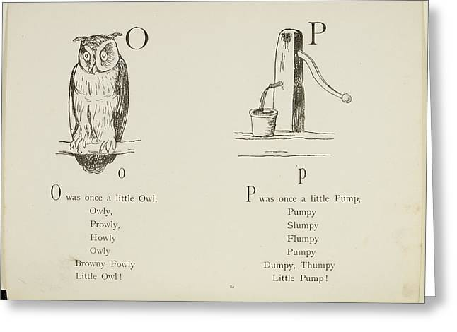 Nonsense Alphabets By Edward Lear Greeting Card