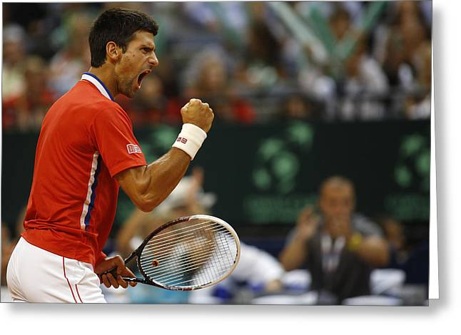 Novak Djokovic Greeting Card by Srdjan Petrovic