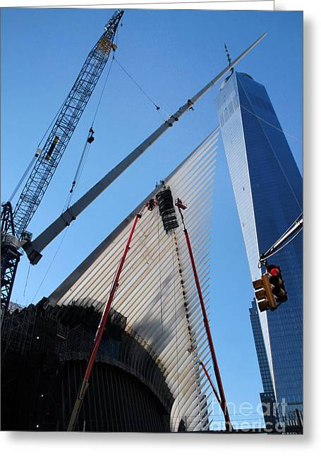 Oculus Wtc Construction Greeting Card
