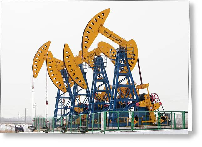 Oil Field In Daqing Greeting Card by Ashley Cooper