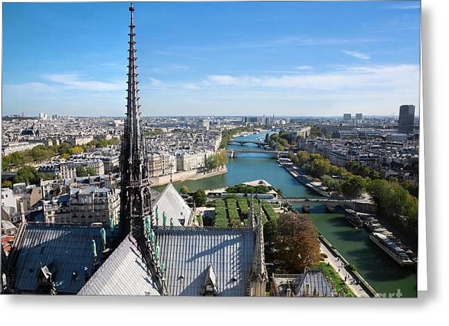Paris Panorama France Greeting Card by Michal Bednarek