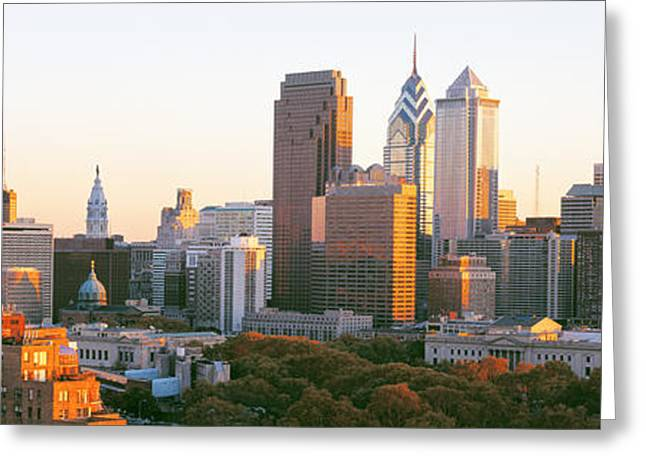 Philadelphia, Pennsylvania, Usa Greeting Card by Panoramic Images