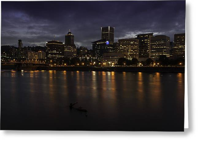 Portland Waterfront Greeting Card