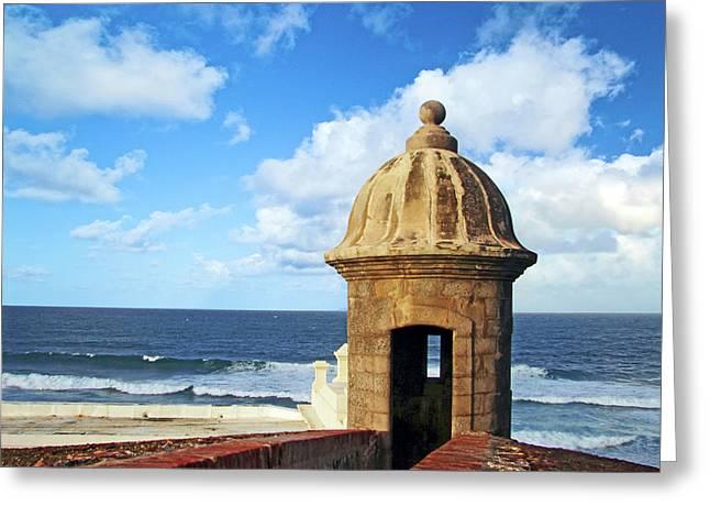 Puerto Rico, San Juan, Fort San Felipe Greeting Card