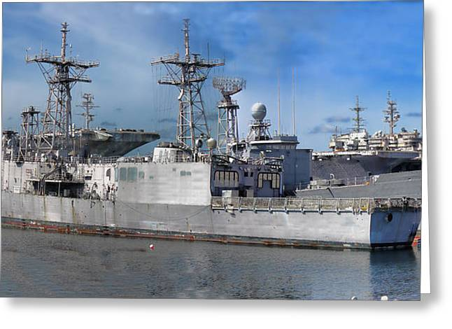 Puget Sound Naval Shipyard Greeting Card by Cathy Anderson