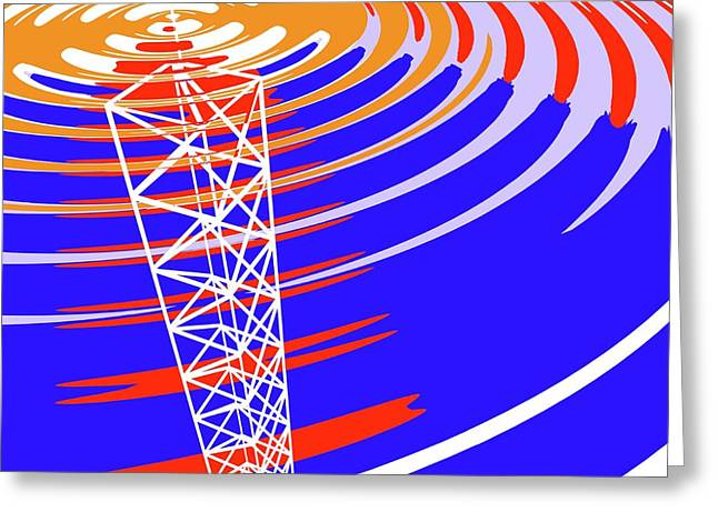 Radio Communications Tower Greeting Card