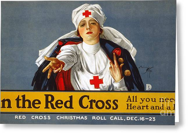 Red Cross Poster, 1917 Greeting Card