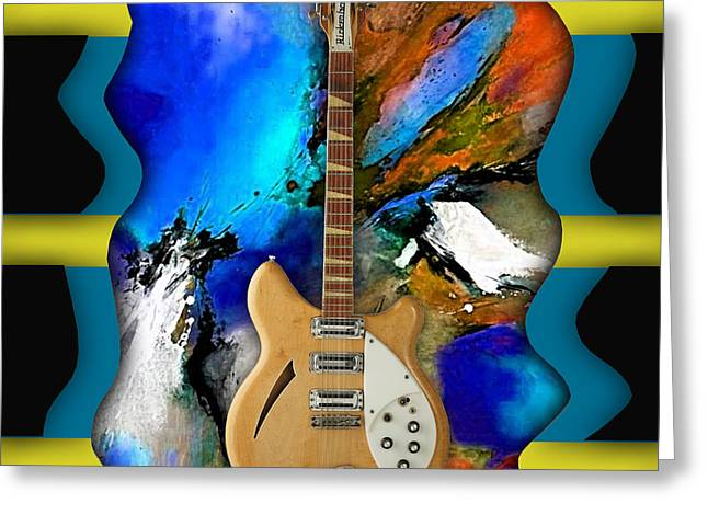 Rickenbacker Guitar Collection Greeting Card