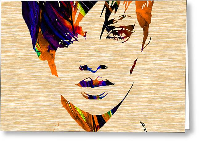 Rihanna Collection Greeting Card by Marvin Blaine