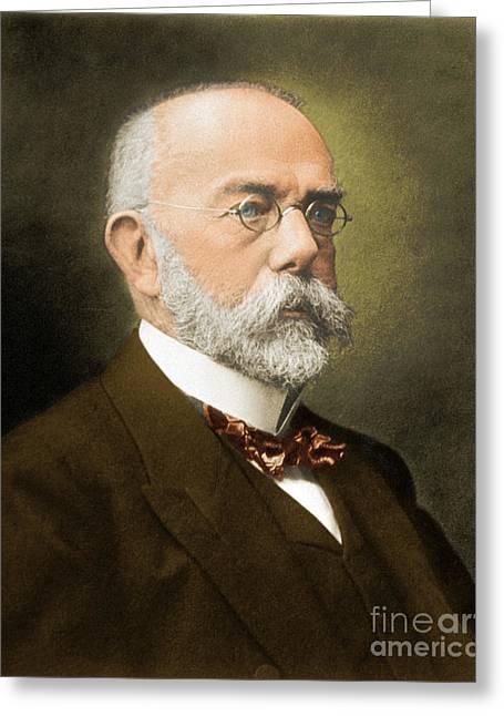 Robert Koch, German Microbiologist Greeting Card by Science Source