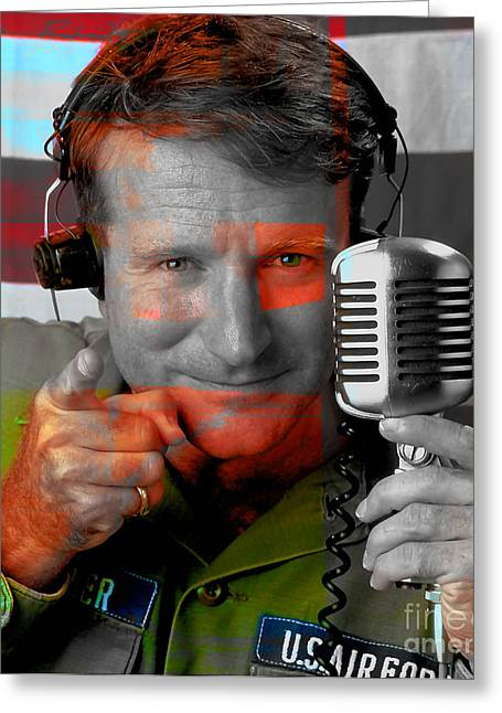 Robin Williams Good Morning Vietnam Greeting Card