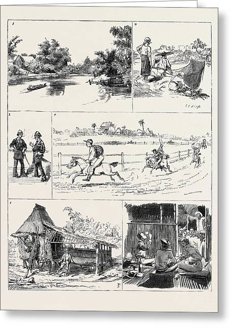 Round The World Yachting In The Ceylon Greeting Card by English School