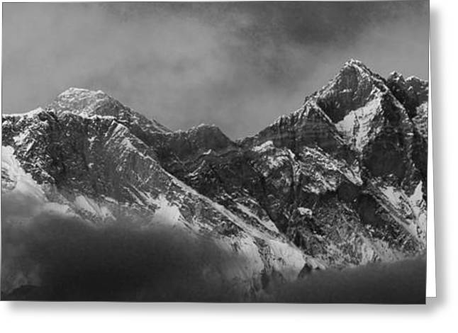 Snow Capped Mount Everest Himalayas Nepal Greeting Card by Dave Porter