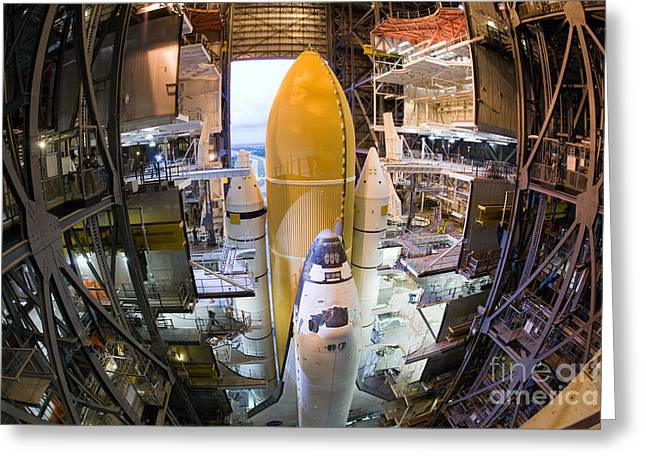 Space Shuttle Mission 135 Greeting Card by Chris Cook