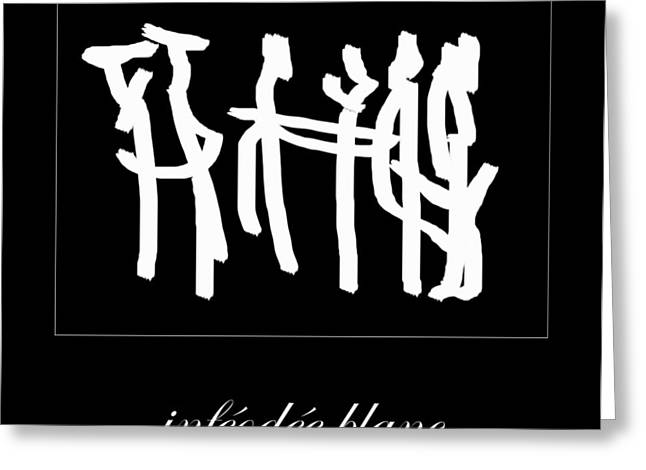 Subservient White Greeting Card by Sir Josef - Social Critic -  Maha Art