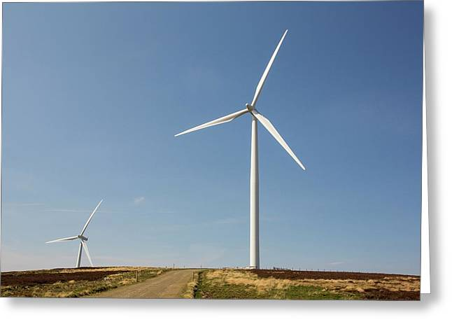 The Clyde Windfarm Greeting Card by Ashley Cooper