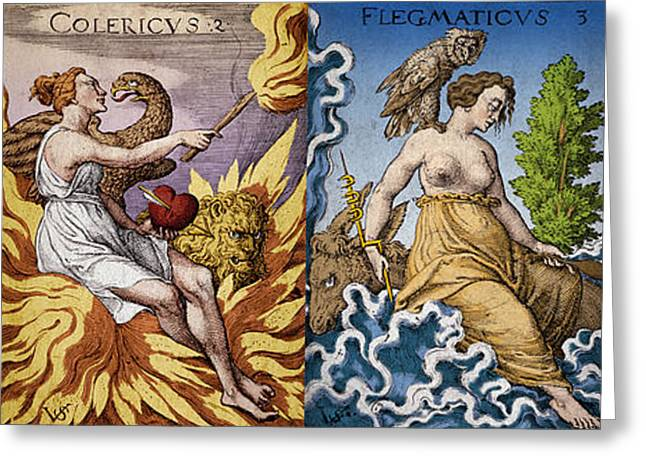 The Four Humors Of Hippocratic Medicine Greeting Card