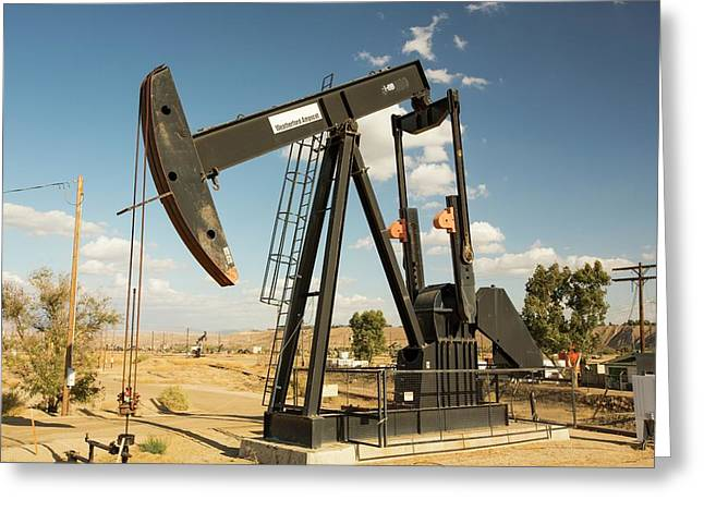 The Kern River Oilfield In Oildale Greeting Card